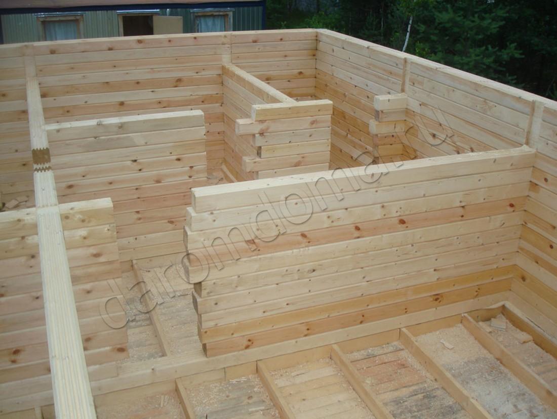 Как построить правильно баню из бруса 150х150 122