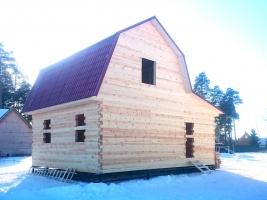 Дом из бруса 7х9 в Ликино-Дулево