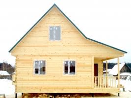 Дом из бруса 7х8 в поселке Кафтино