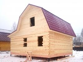 Дом из бруса 7х9 под усадку в деревне Сонино