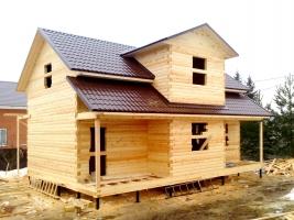 Дом из бруса 7.5х10.5 в деревне Мисирёво