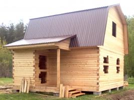 Дом из бруса на усадку 7,5х6 в Тверской области