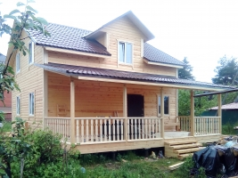 Дом из бруса 10х9 в Петродворцовом районе