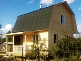 Дом 6х6 с террасой в деревне Курбатово