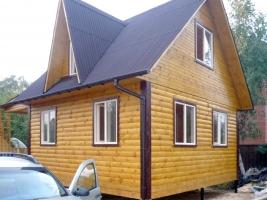 Дом 6 на 8 в деревне Полушкино