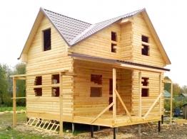 Дом 8х8 из бруса в деревне Перхачёво