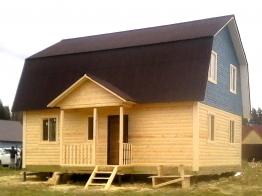 Дом из бруса 7х9 в деревне Бурмакино