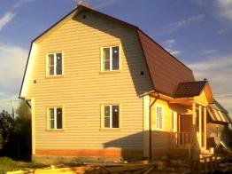 Дом 7х9,5 из бруса в деревне Калужское