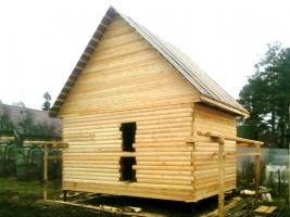 Дом из бруса 4x6 в поселке Левашово