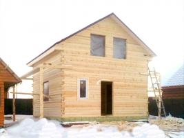 Дом из бруса 6х6 в поселке Красные Ткачи